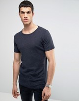 Selected Homme Selected T-shirt With Stripe Detail