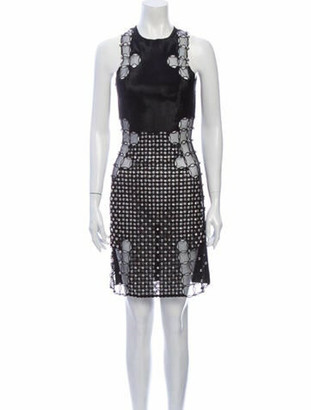 David Koma Printed Mini Dress Black