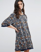 Liquorish Cactus Print Oversized Shift Dress