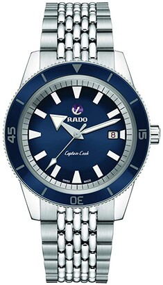 Rado Captain Cook 42mm Automatic Watch Set (Blue) Watches