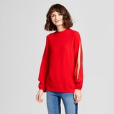 Mossimo Women's Open Sleeve Pullover Sweater Red