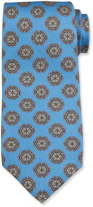 Isaia Men's Medallion Cotton-Silk Tie