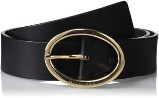 Tommy Hilfiger Women's Oval Buckle 3.5 Belt