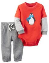 Carter's Boys' 'Penguin' 2-Piece Bodysuit & Pant Set