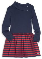 Petit Bateau Little Girl's Folded Collar Dress