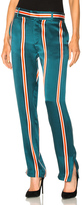 Equipment Florence Trouser Pant in Green,Orange,Stripes.