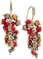 INC International Concepts Gold-Tone Berry Stone Drop Earrings, Only at Macy's