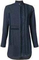 Akris Punto high neck denim shirt - women - Cotton - 4
