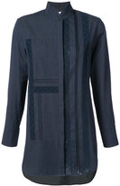 Akris Punto high neck denim shirt