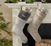 Pottery Barn Faux Fur Stocking - Quail