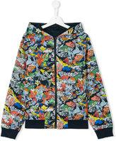 Kenzo Dancing Cactus hooded jacket - kids - Polyamide - 14 yrs