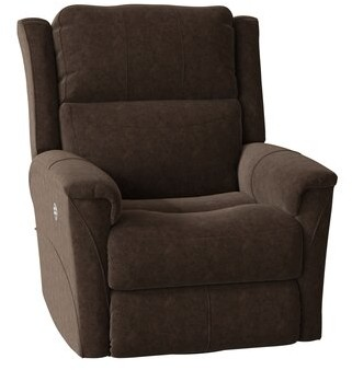 Southern Motion Shimmer Recliner with Heating Body Fabric: Pebble Beach Coffee
