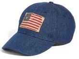 Steve Madden Women's Denim Baseball Cap - Blue