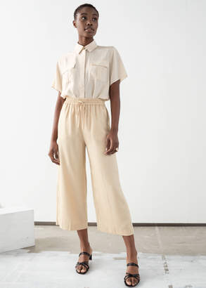 And other stories Lyocell Drawstring Culottes
