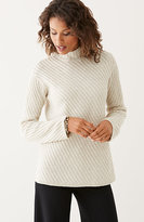 J. Jill Diagonal-Stitch Sweater