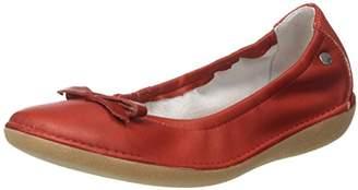 TBS Women's MACASH Closed Toe Ballet Flats, Red (Rouge + Blush G76)