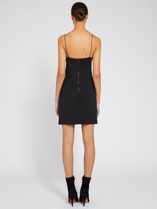 Alice + Olivia NONI CRYSTAL BLACK MINI DRESS