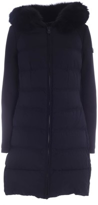Peuterey Long Jacket In Double Fabric Color Black