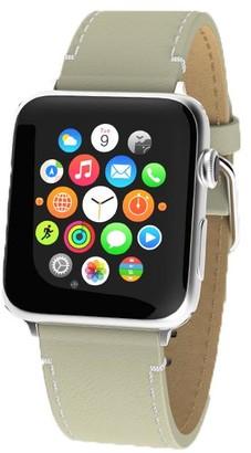 Victoria Emerson Cream Leather Apple Watch Band