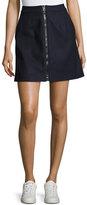 Acne Studios Suraya Zip-Front Flannel Skirt, Navy
