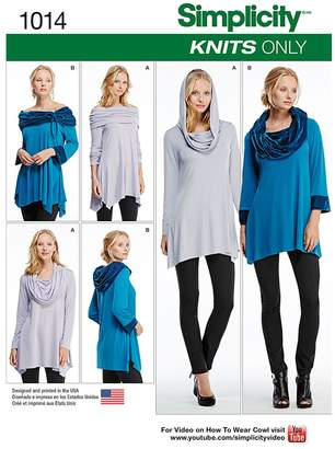 Simplicity Misses' Knit Tunics Sewing Pattern, 1014