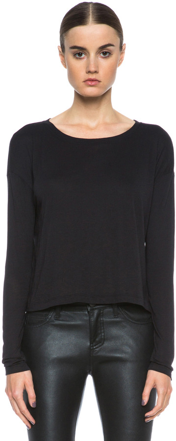 Alexander Wang Single Jersey Tee in Black
