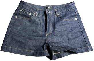 A.P.C. \N Blue Denim - Jeans Shorts