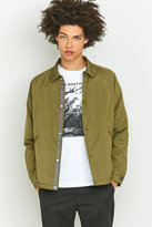 Uo Dugout Olive Coach Jacket
