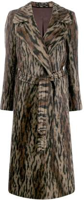 Tagliatore Molly animal-print coat