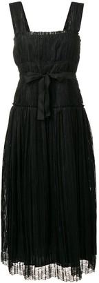 Bottega Veneta striped tie waist dress