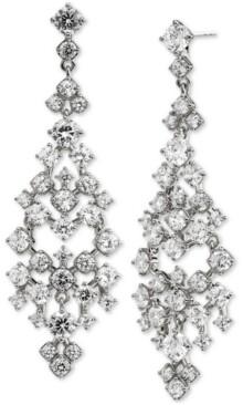 Eliot Danori Silver-Plated Cubic Zirconia Chandelier Earrings, Created for Macy's