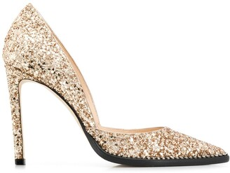 Jimmy Choo Babette 100mm glitter pumps