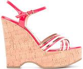 L'Autre Chose platform sandals - women - Patent Leather/Leather/Cork/rubber - 35