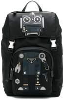 Prada robot motif backpack