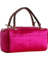 fuchsia satin small handbag