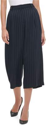 Tommy Hilfiger Striped Mid-Rise Wide-Leg Pants
