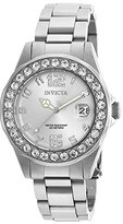 Invicta Women's Quartz Watch with Silver Dial Analogue Display and Silver Stainless Steel Bracelet 21396