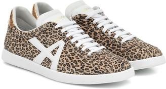 Aquazzura The A leopard-print suede sneakers