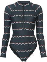 Cynthia Rowley Shock Wave Electric surf suit