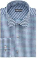 Kenneth Cole Reaction Men's Slim-Fit Pool Blue Checked Dress Shirt