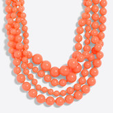 J.Crew Factory Multi-strand beaded necklace with critter clasp