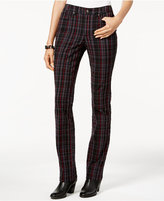 Charter Club Lexington Plaid Straight-Leg Jeans, Only at Macy's