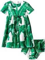 Dolce & Gabbana Botanical Garden Banana Print Dress (Infant)