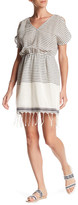 Collective Concepts Stripe Cold Shoulder Dress