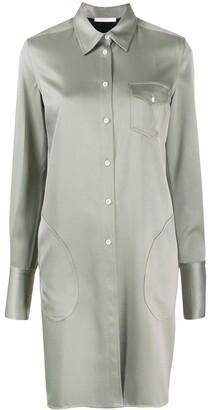 Peter Do Chest Pocket Shirt Dress