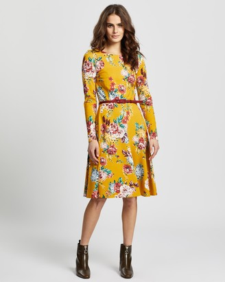 Review Caity Floral Ponte Dress