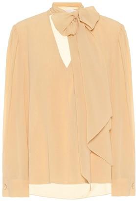 Chloé Silk-georgette blouse