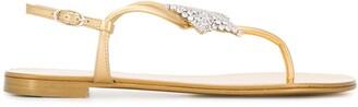 Giuseppe Zanotti Thong Strap Crystal-Embellished Sandals