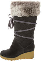 Marc Jacobs Quilted Fur-Trimmed Boots