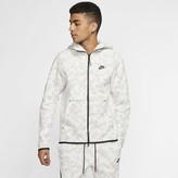 Nike Men's Full-Zip Printed Hoodie Sportswear Tech Fleece